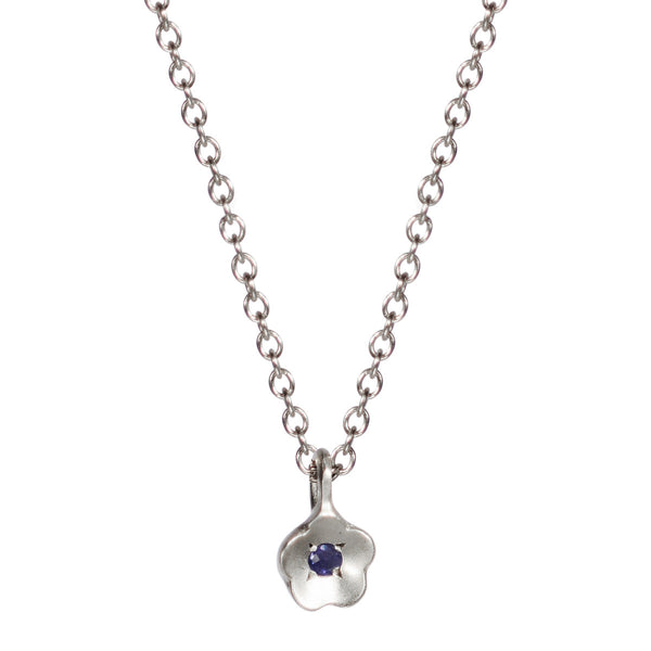 Sterling Silver Buttercup Pendant with Iolite