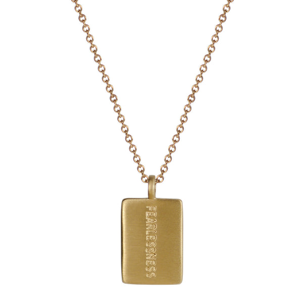 10K Gold Fearlessness Tag on Chain