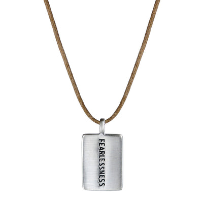 Sterling Silver Fearlessness Tag on Cord