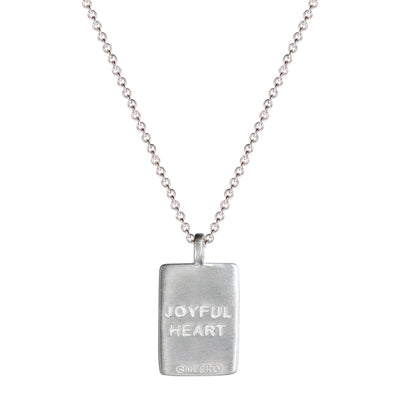 Sterling Silver Fearlessness Tag on Chain