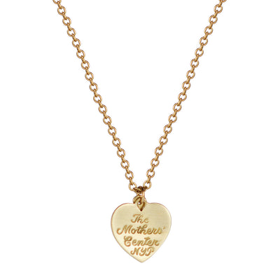 18K Gold New York Presbyterian Heart and Anchor Pendant