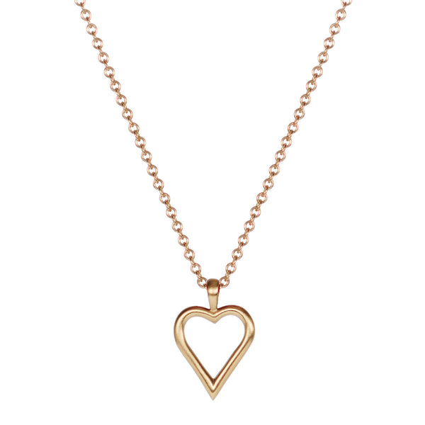 10K Gold Joyful Heart Foundation Open Heart Pendant
