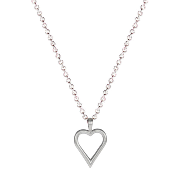 Sterling Silver Joyful Heart Foundation Open Heart Pendant