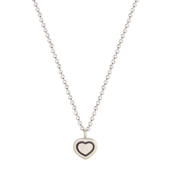 Sterling Silver Engraved Heart Pendant