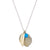 Silver Shell and 10K Leaf Charm with Turquoise Bead