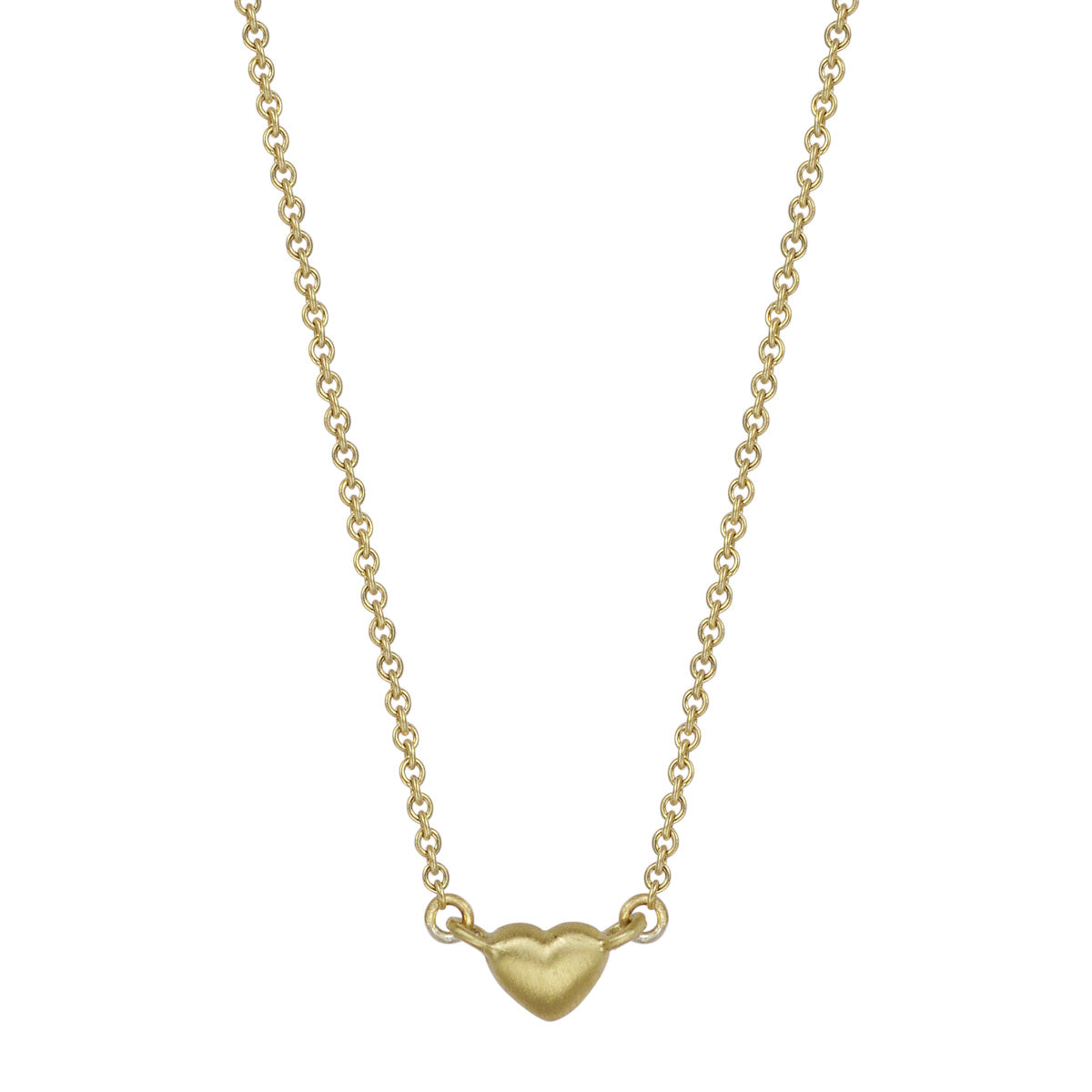18K Gold Tiny Heart Pendant