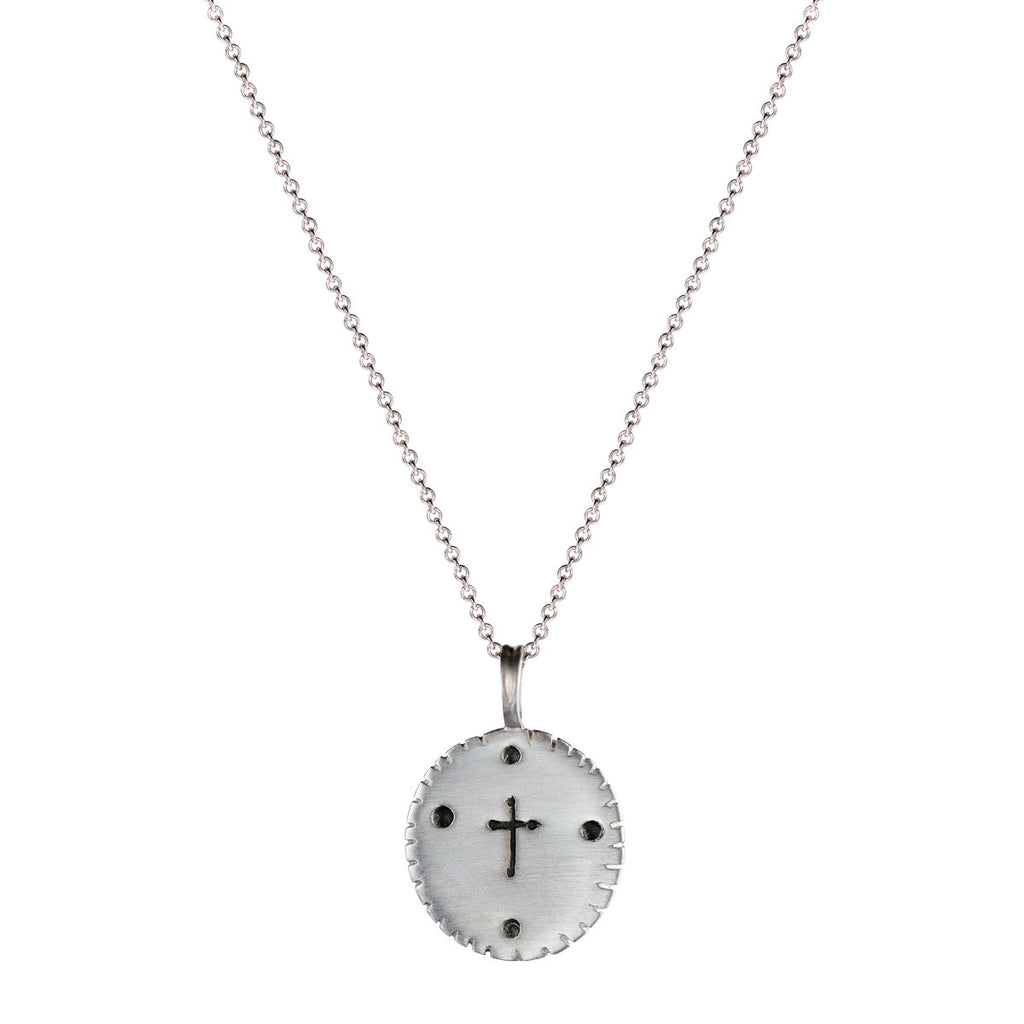 Men's Sterling Silver Thin Cross Pendant