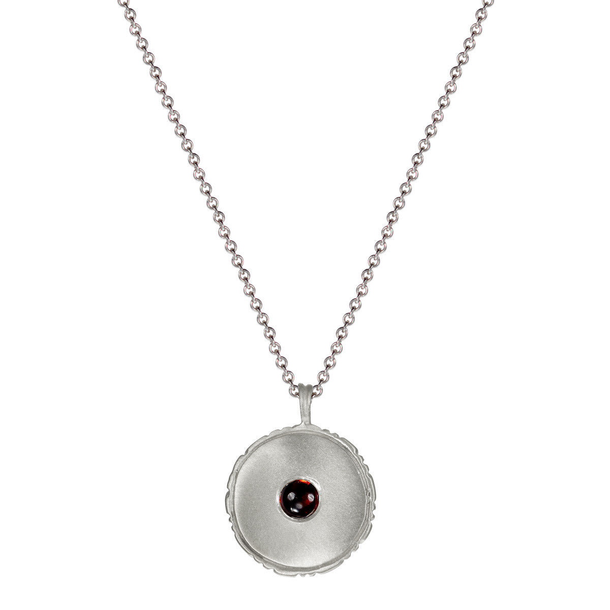 Sterling Silver Strength is Having a Graceful Life Pendant with Garnet