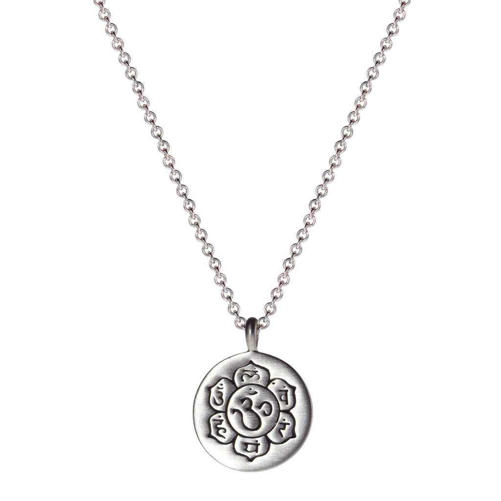 Sterling Silver Small Chakra Flower Pendant