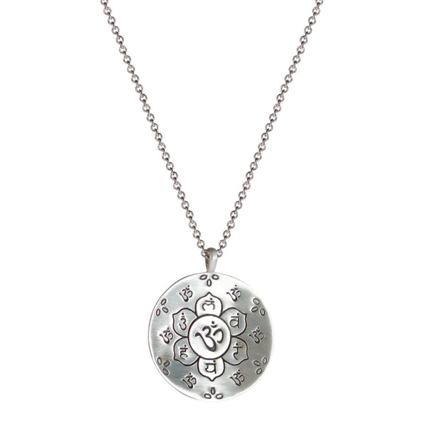 Sterling Silver Medium Chakra Flower Pendant