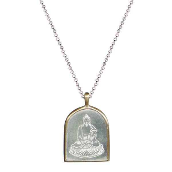 Sterling Silver & 10K Gold Buddha Pendant