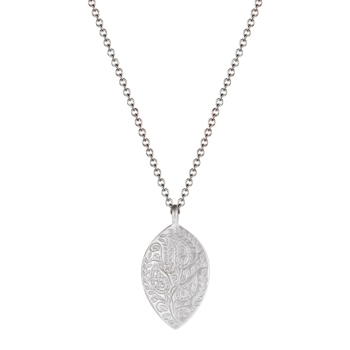 Sterling Silver Medium Paisley Pendant