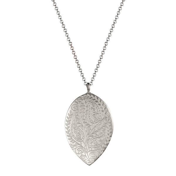 Sterling Silver Large Paisley Pendant