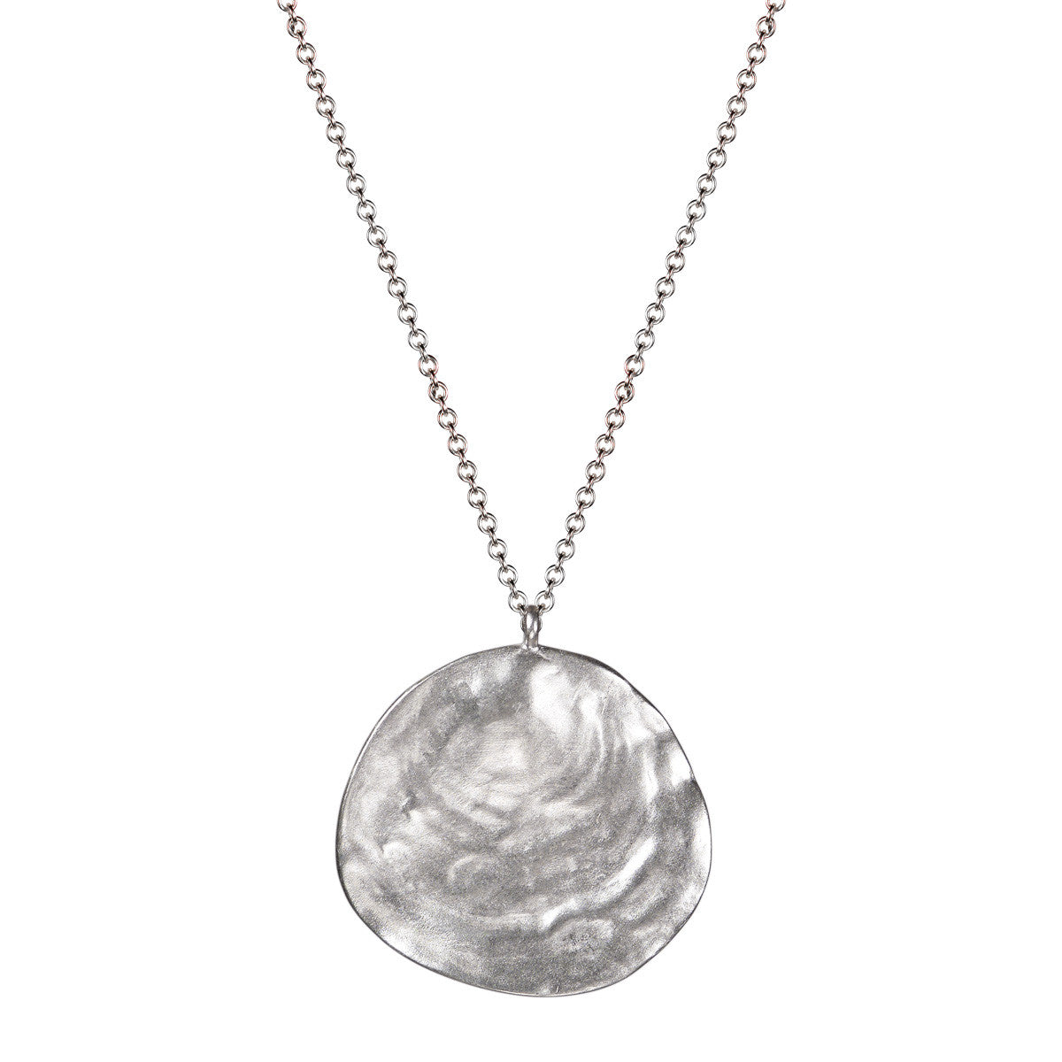 Sterling Silver Large Shell Pendant