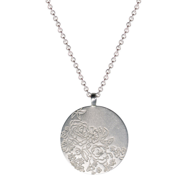 Sterling Silver Large Flower Pendant