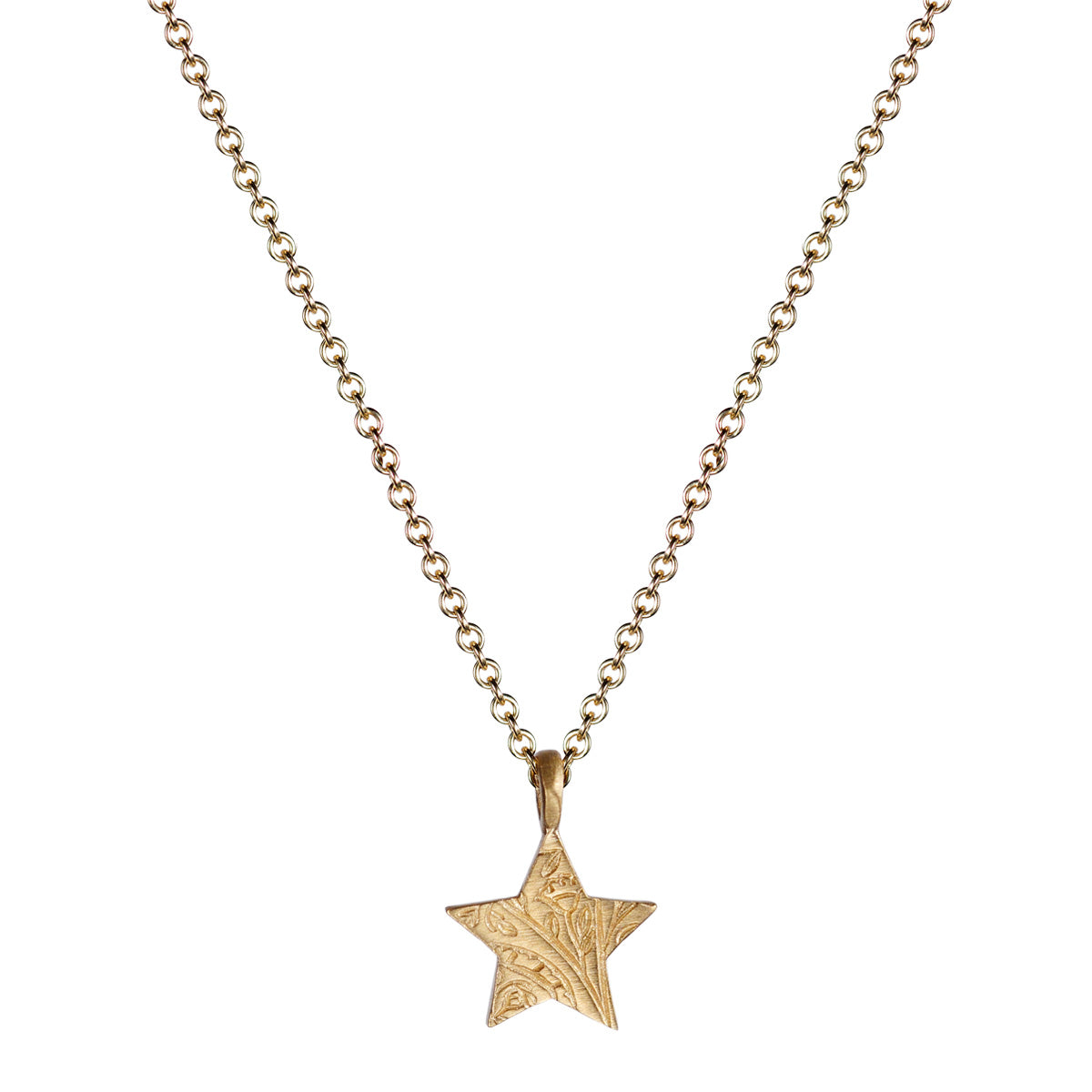 10K Gold Small Paisley Star Pendant