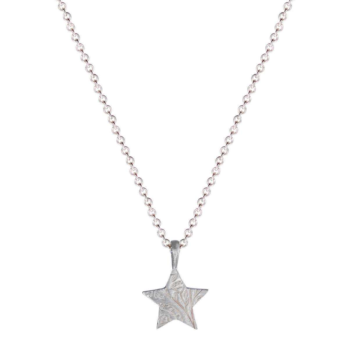 Sterling Silver Small Paisley Star Pendant