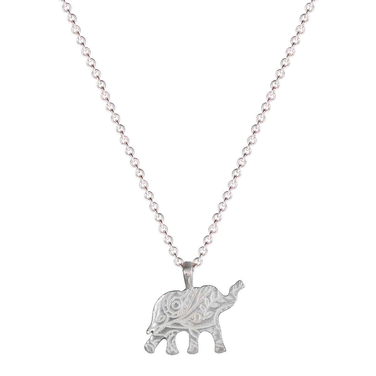 Sterling Silver Small Paisley Elephant Pendant