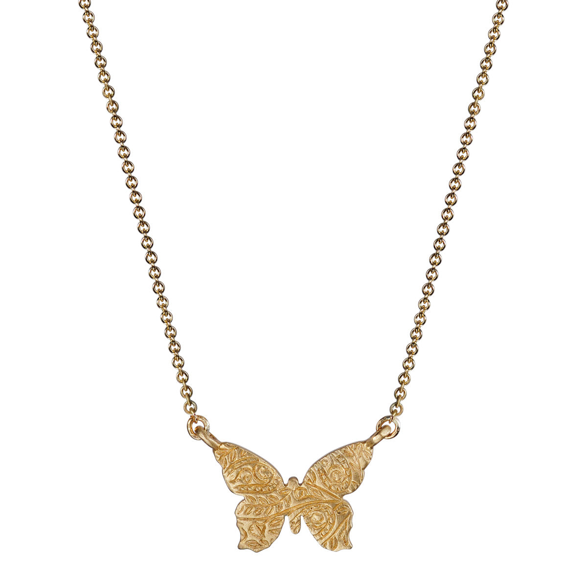 10K Gold Small Paisley Butterfly Pendant