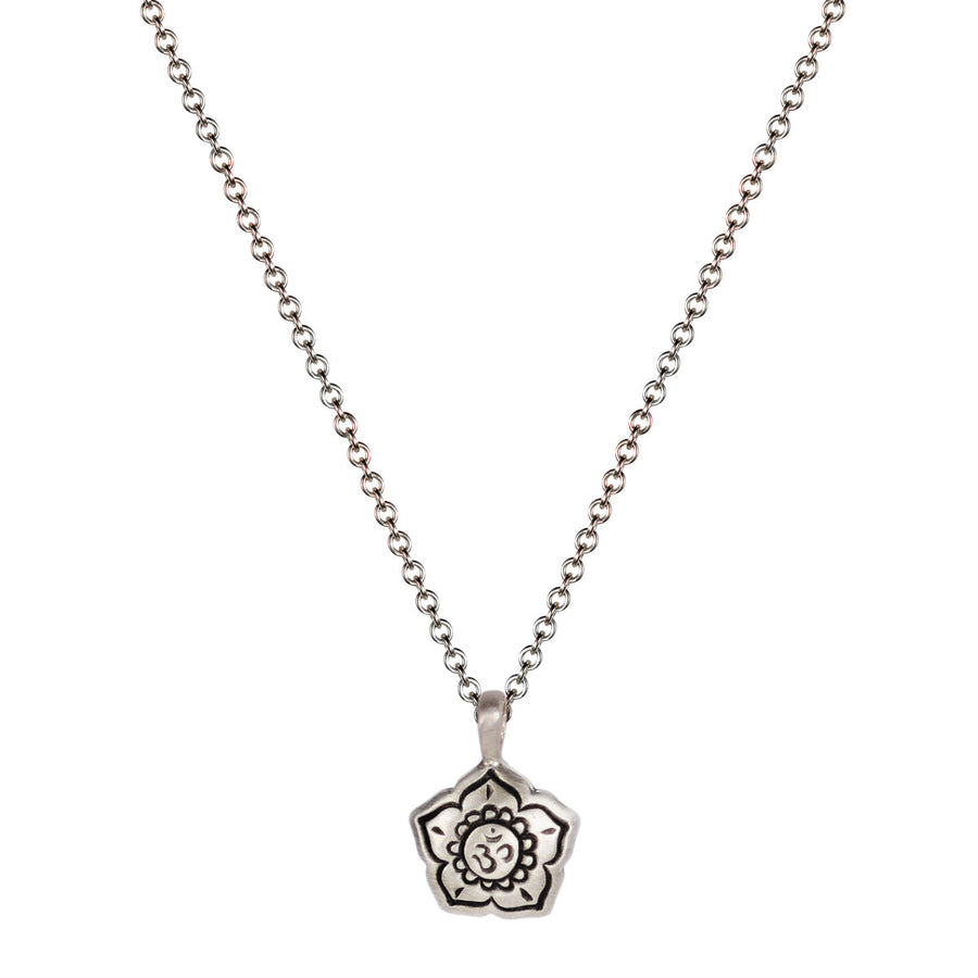 Silver 10k Flowers Tagged Chain Mero