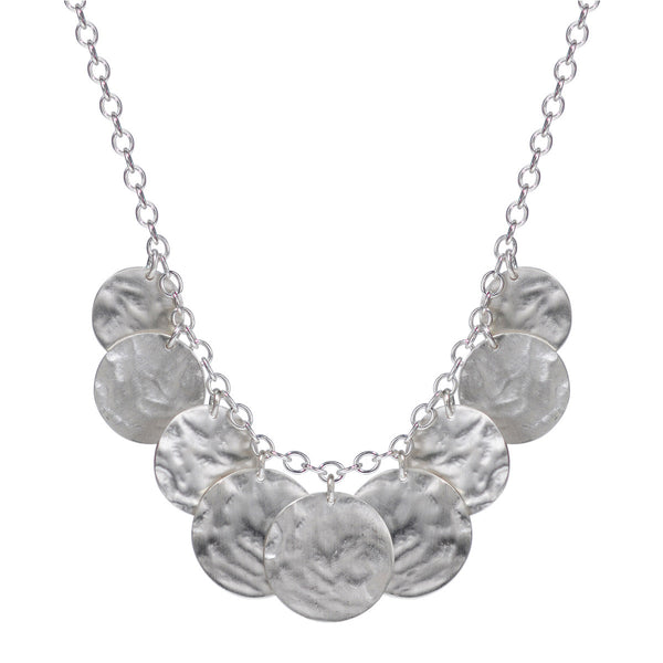 Sterling Silver Graduated Shell Disc Chain