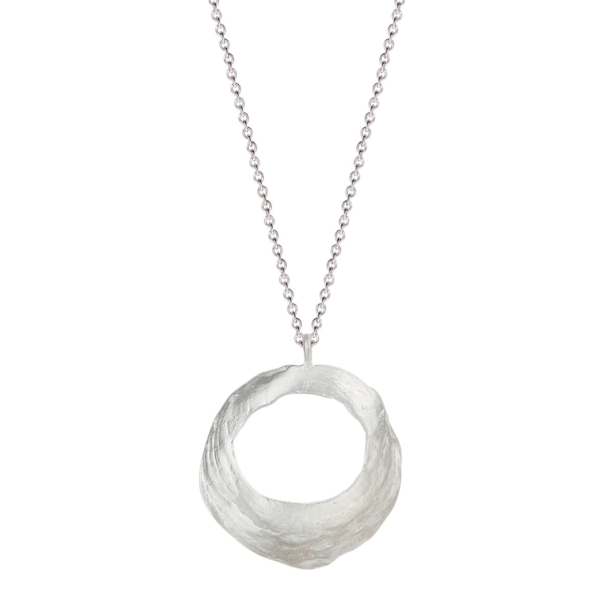 Sterling Silver Round Open Shell Pendant