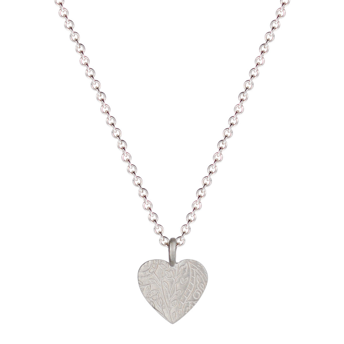 Sterling Silver Small Paisley Heart Pendant