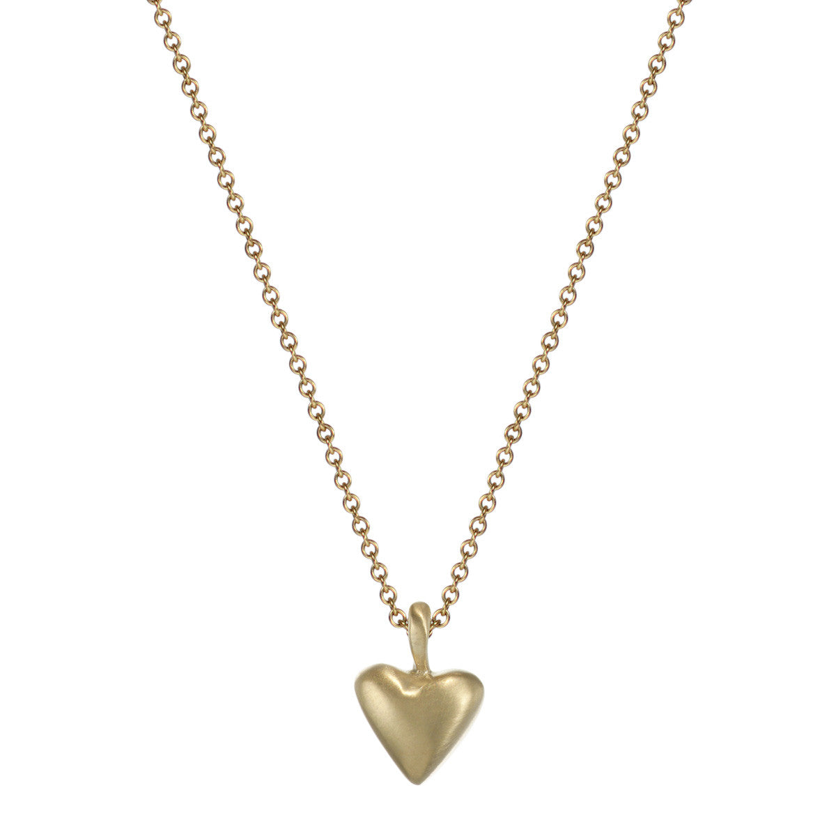 10K Gold Medium Heart on Chain
