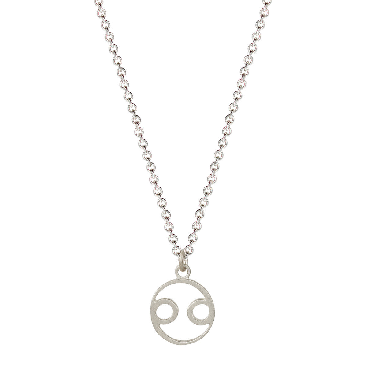 Sterling Silver Cancer Symbol Pendant