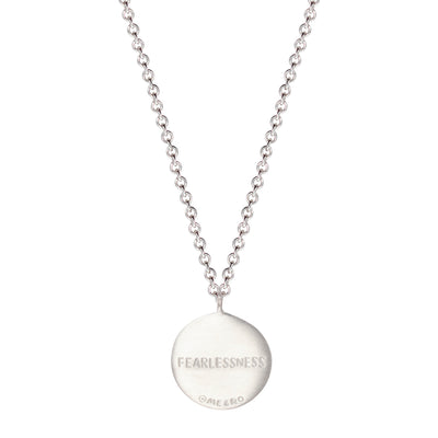 Sterling Silver Fearlessness Disc Pendant