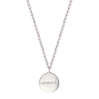 Sterling Silver Patience Disc Pendant