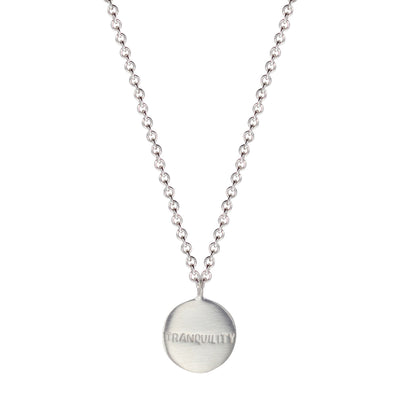 Sterling Silver Tranquility Disc Pendant