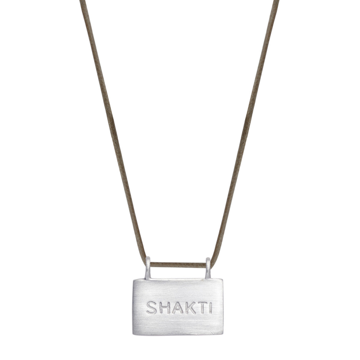 Sterling Silver Shakti 'Energy' Slate Pendant on Cord