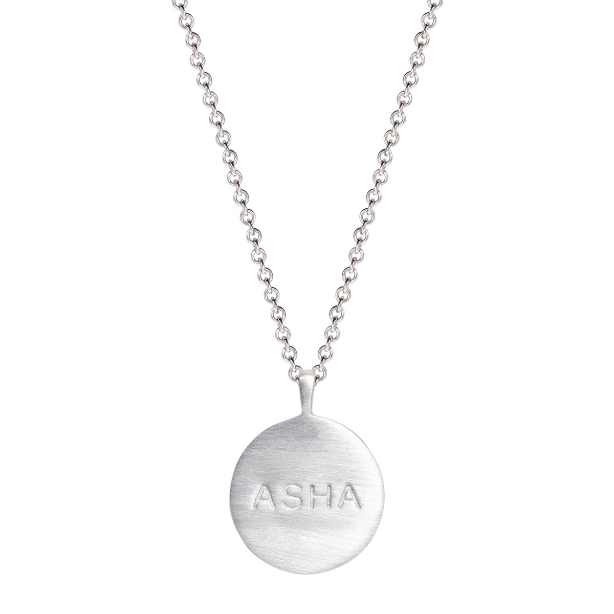 Sterling Silver Asha 'Hope' Disc Pendant
