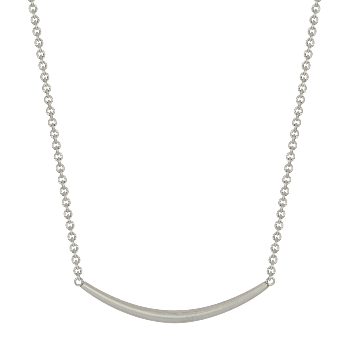 Sterling Silver Heavy Tibetan Bar Necklace