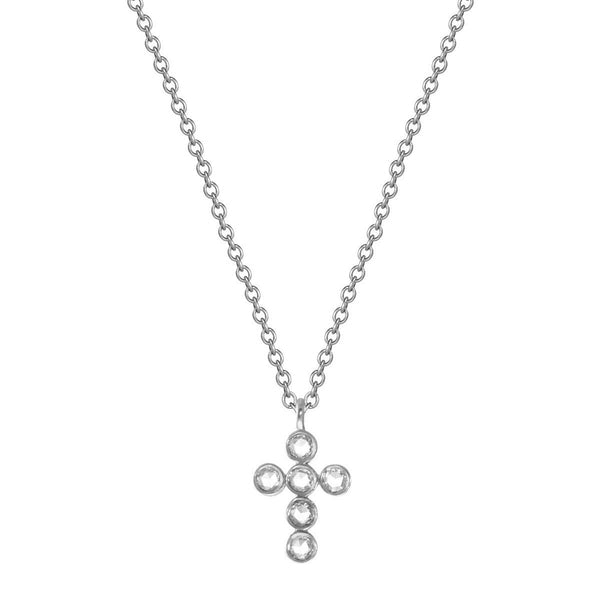 Platinum Diamond Cross Pendant