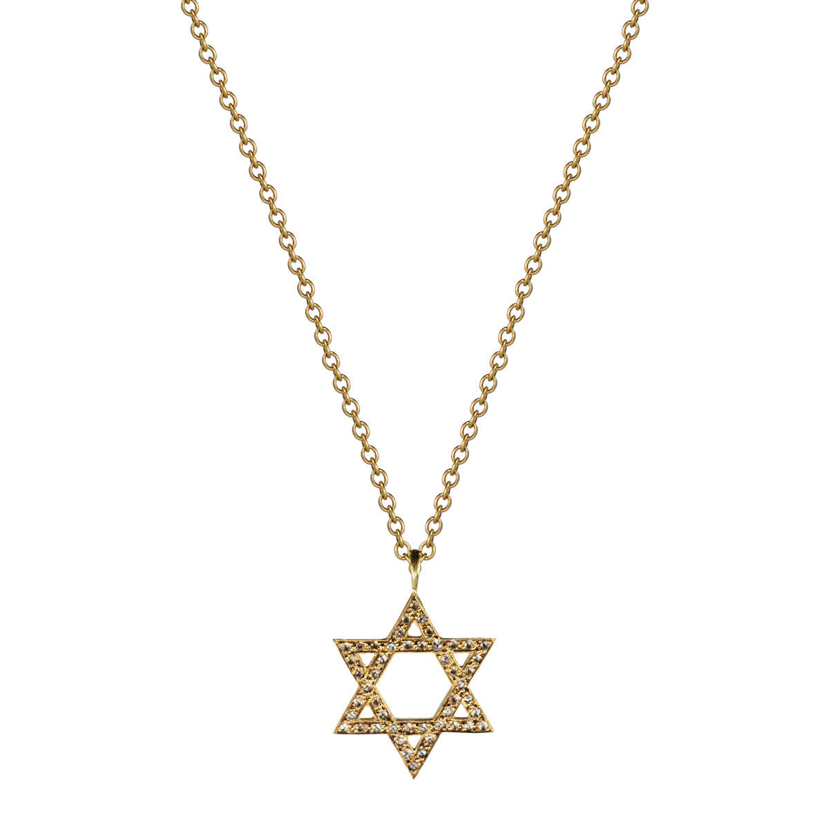 18k gold star of david pendant with diamonds mero 18k gold star of david pendant with diamonds aloadofball Images