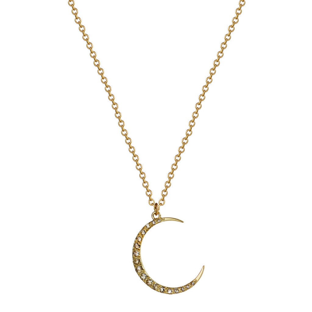 18K Gold Medium Moon Pendant