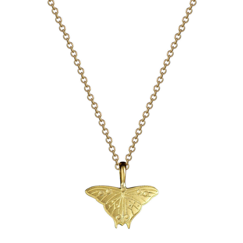 18K Gold Small Butterfly Pendant