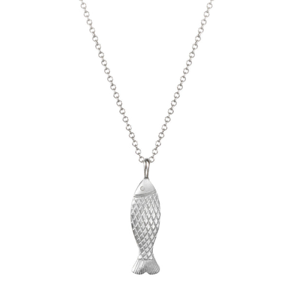 Sterling Silver Small Fish Scale Pendant