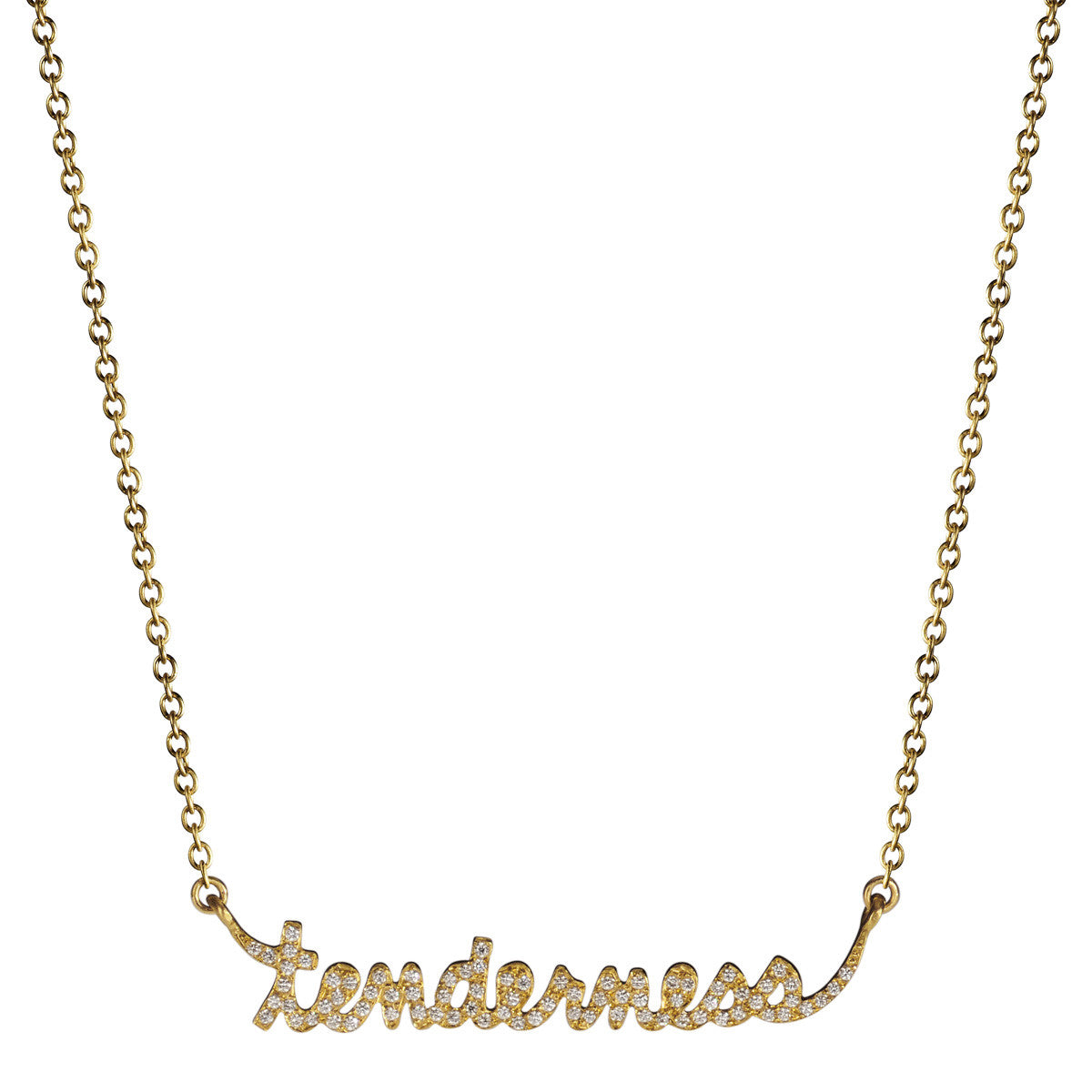 18K Gold Pave 'Tenderness' Pendant with Diamonds