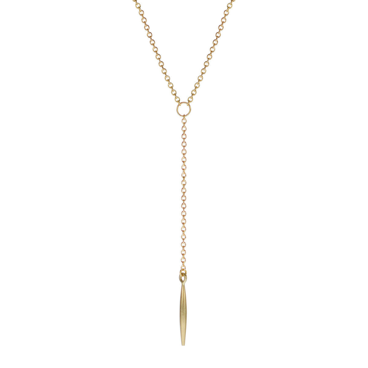 18K Gold Lure Drop Pendant