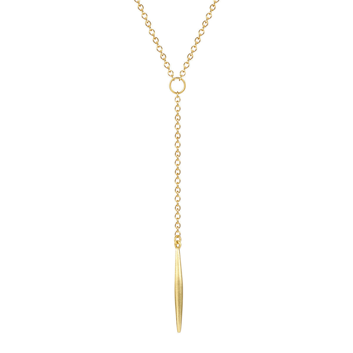 18K Gold Large Lure Drop Pendant