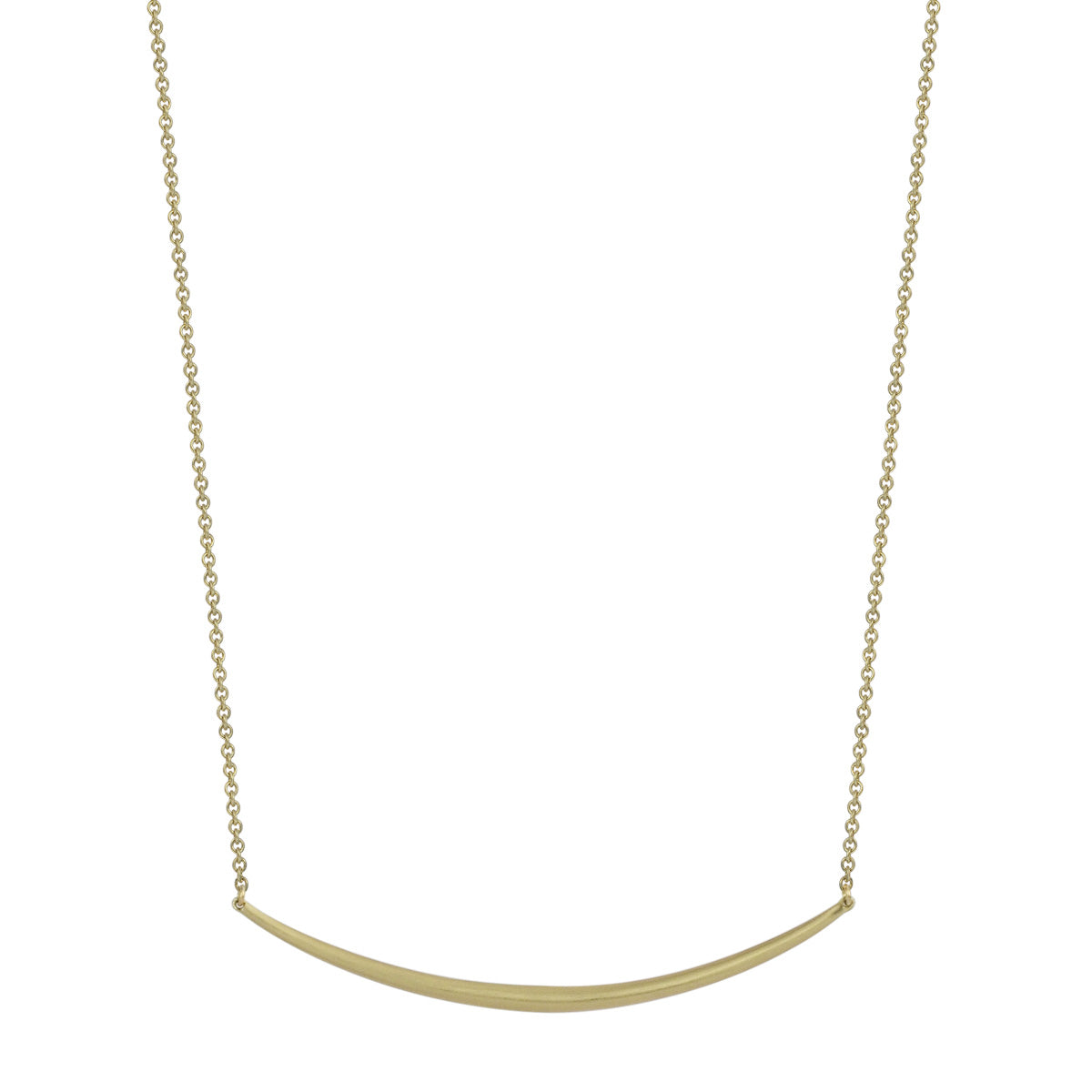 18K Gold Fine Tibetan Bar Necklace