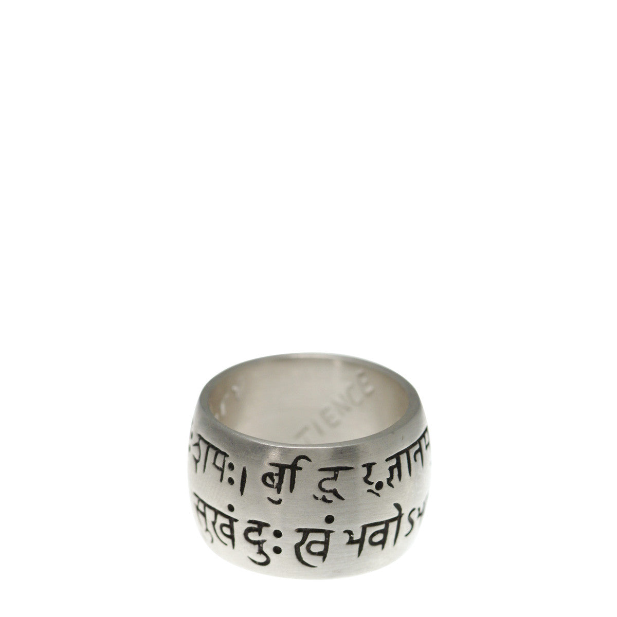 Sterling Silver Wide Sanskrit Ring