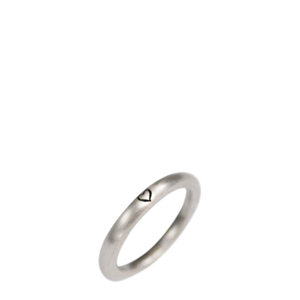 Sterling Silver Tiny Heart Band