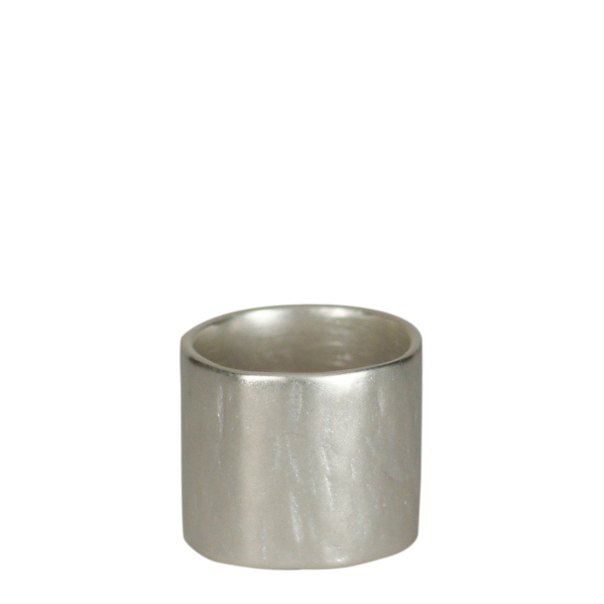 Men's Sterling Silver Wide Flattened Ring