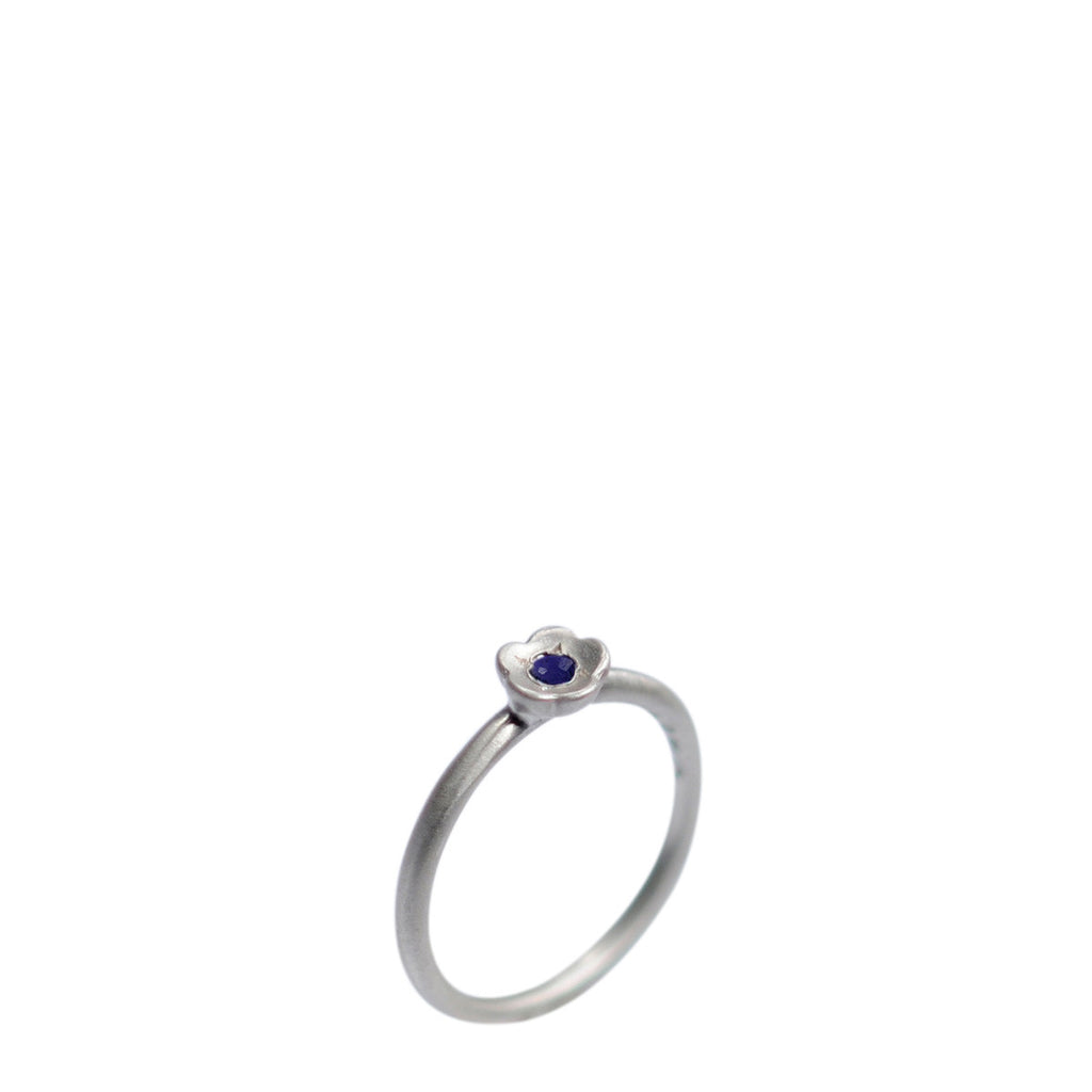 Sterling Silver Buttercup Ring with Iolite