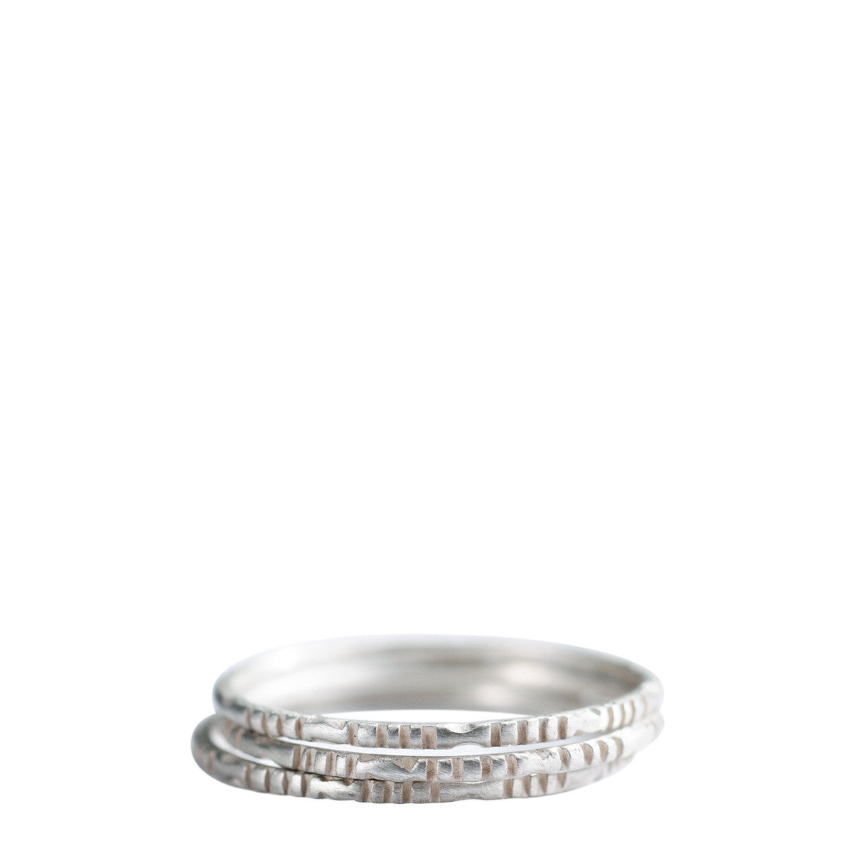 Sterling Silver Moroccan Rings (Set of Three)