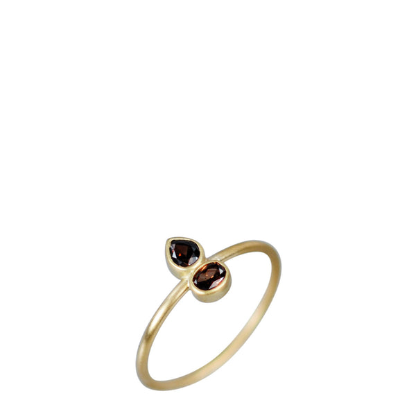 18K Gold Double Fancy Colored Diamond Ring
